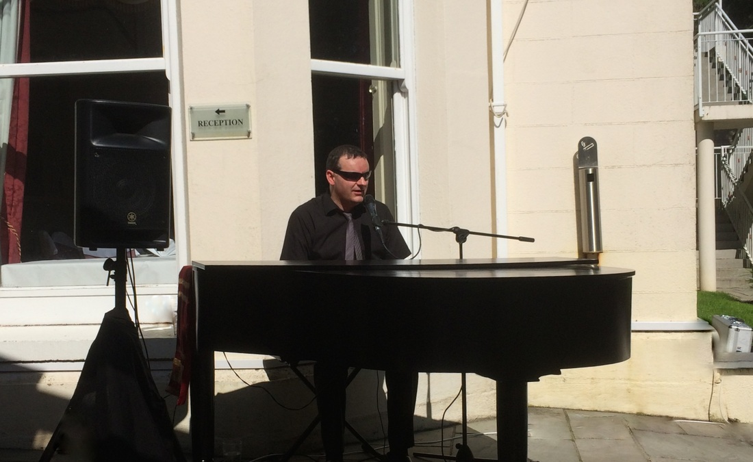 The Ardilhaun Hotel, galway, sean de burca. piano man outdoors