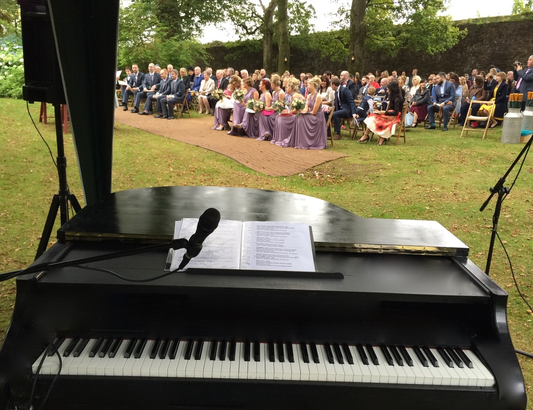 Ballyvollane House, outdoor wedding