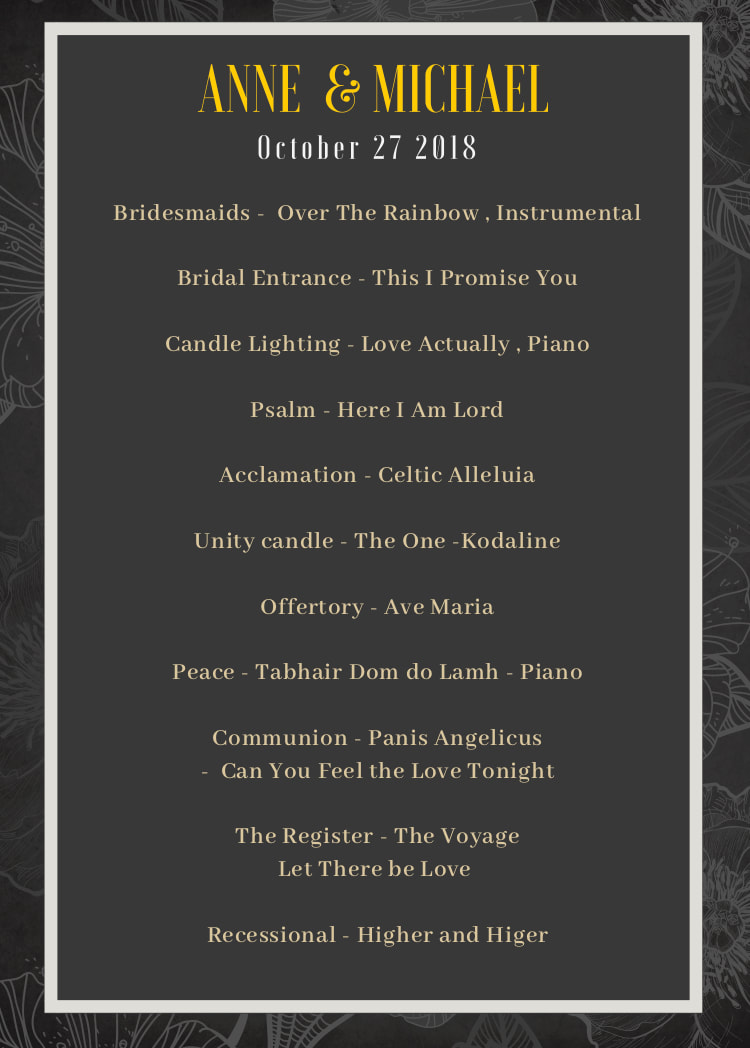 Wedding music layout | 100 ideas for your ceremony