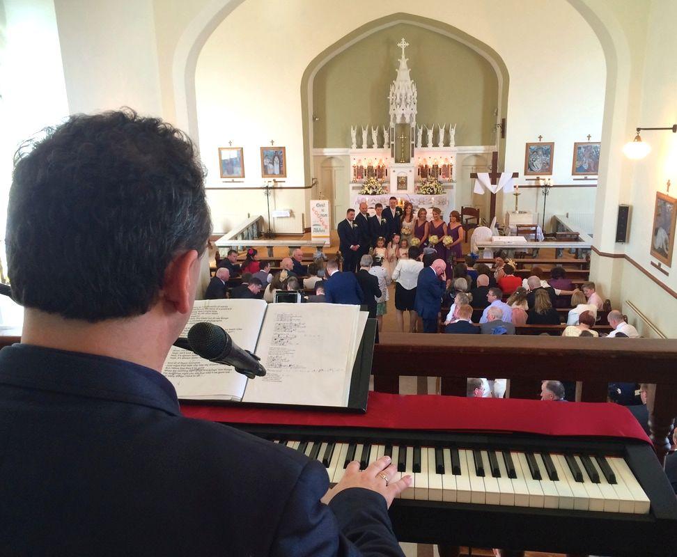 Galway Wedding Ceremony Singer Sean De Burca In The Gallery Of Kiltullagh Church